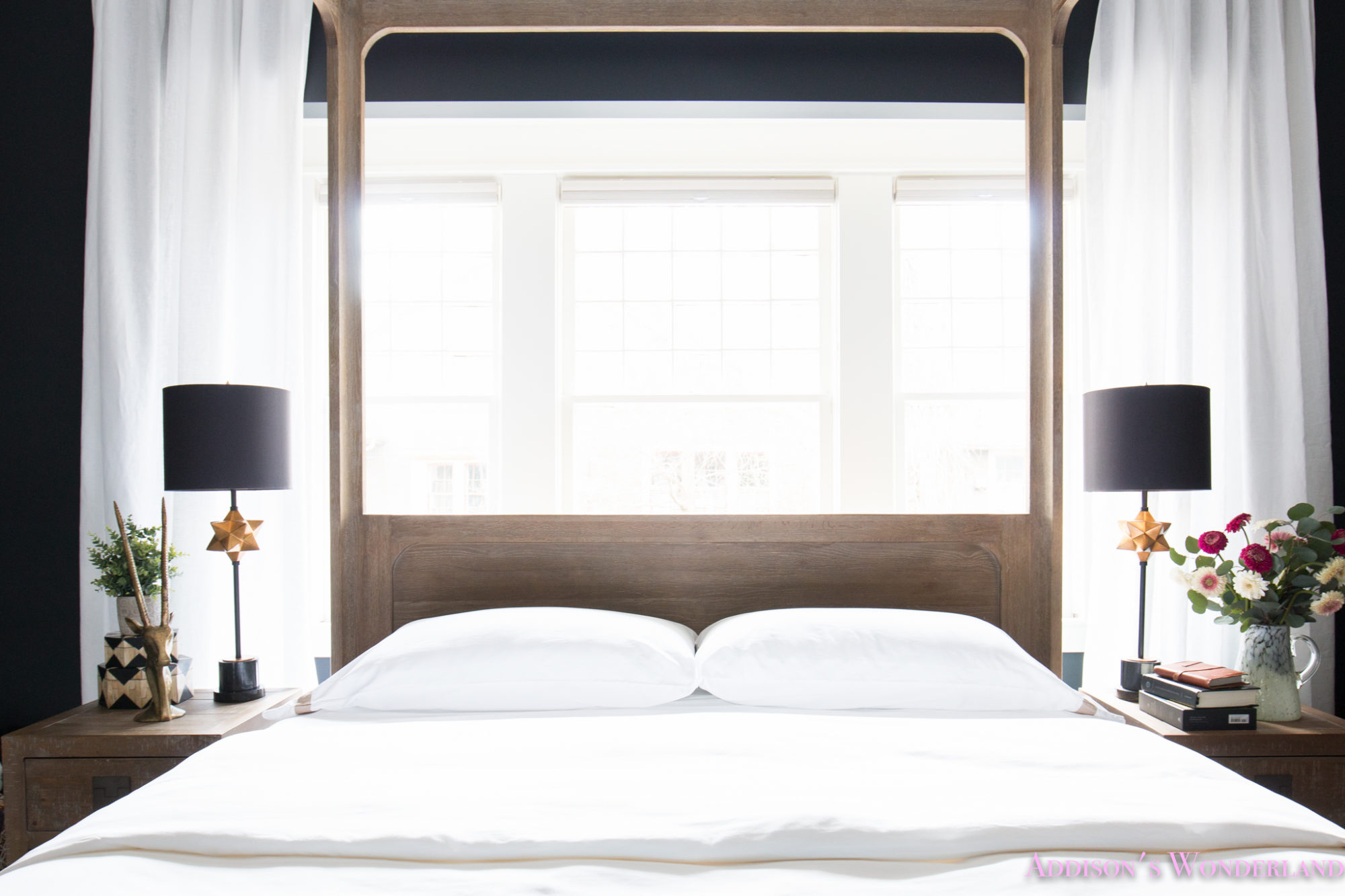 All Black Bedroom Our Black Master Bedroom Update With All White Bedding By