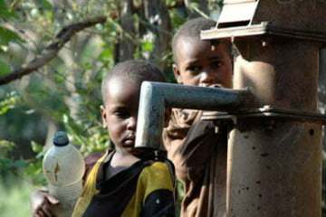 Queuing for a drop of clean water