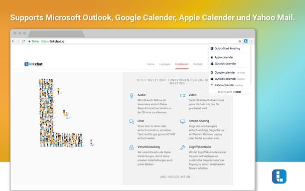 linkchat Screen Sharing  Calendar Add-on extension - Opera add-ons