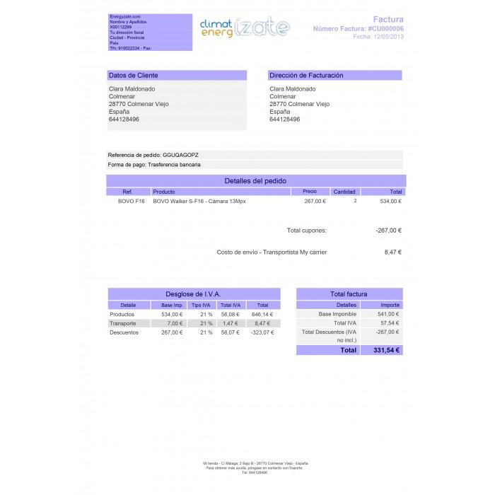 Customized Invoice - PrestaShop Addons - how to create a invoice