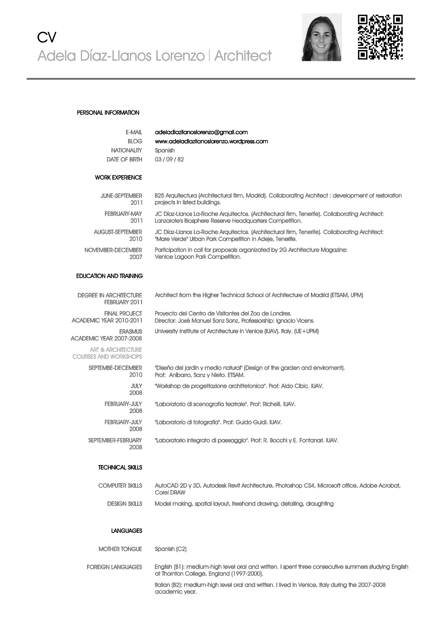 cv for architecture training service resume cv for architecture training the top architecture rsumcv designs archdaily cv english adela d237 az