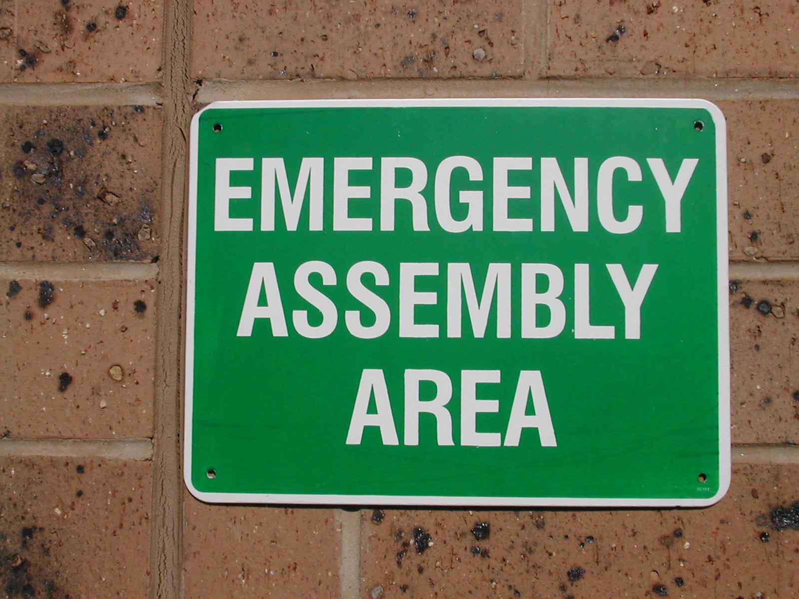 Battery Shop Adelaide Sign Plastic Emergency Assembly Area Point 225 X