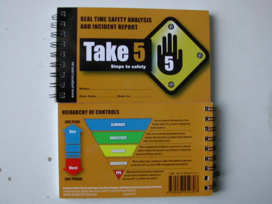 Battery Shop Adelaide Take 5 Risk Assessment Book Adelaide Safety Supplies