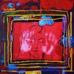 """Artist Daniela Zbarcea """"3 Secunde"""", tehnică mixtă, 60 x 80 cm,  4136 lei redus la 3723 lei la CELEBRATION"""
