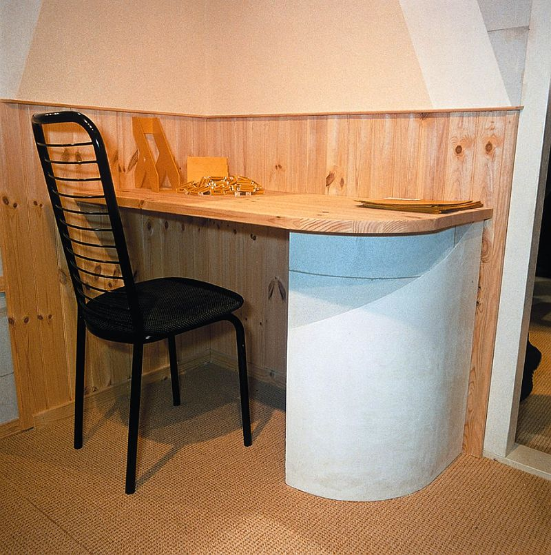 adelaparvu.com despre mobilier fix din BCA, mese insula, rafturi, pereti despartiotori, semineuri cu Ytong Design (13)