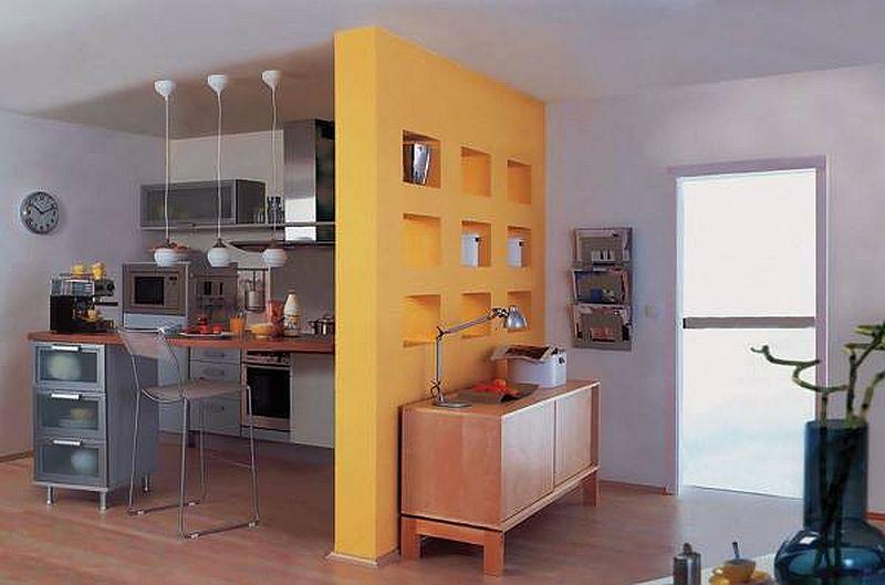 adelaparvu.com despre mobilier fix din BCA, mese insula, rafturi, pereti despartiotori, semineuri cu Ytong Design (17)
