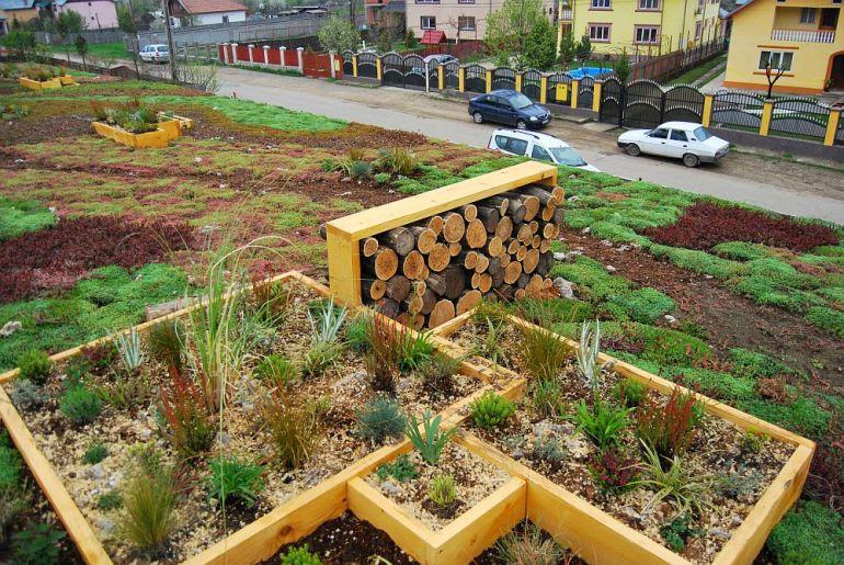 adelaparvu.com despre acoperis verde la Berca, gradina pe acoperis, design si executie Arta Gradinilor (7)