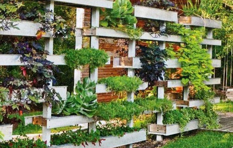 adelaparvu.com despre garduri cu loc pentru plante si rafturi verticale cu plante