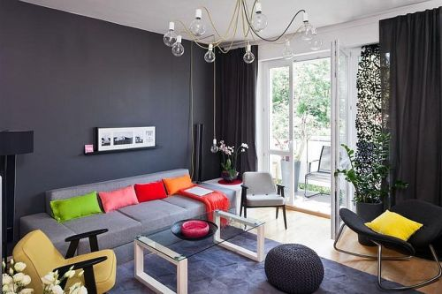 adelaparvu.com despre apartament de doua camere indraznet amenajat, design interior Cablepower, Foto Marcin Czechowicz (14)