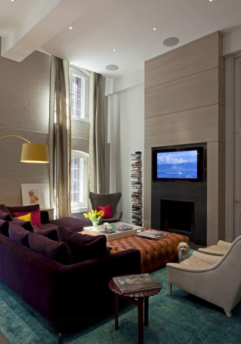 Foto David Howell Design televizorul în cameră Unde se pune televizorul în cameră și la ce distanță de canapea sau pat? adelaparvu