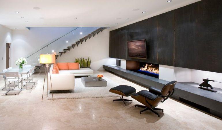 Foto Nakhshab Development and Design televizorul în cameră Unde se pune televizorul în cameră și la ce distanță de canapea sau pat? adelaparvu