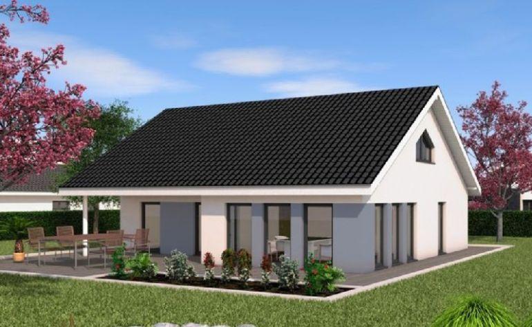 Proiecte de case cu un singur nivel i suprafe e ntre 87 for Chalet haus bauen
