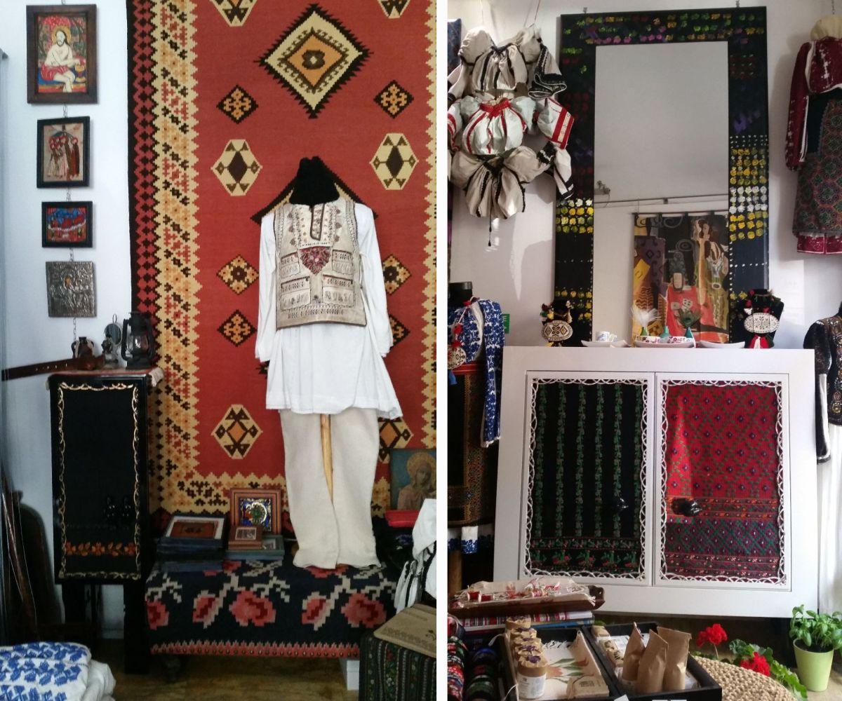 Magazin cu obiecte tradiționale românești și piese de design românesc