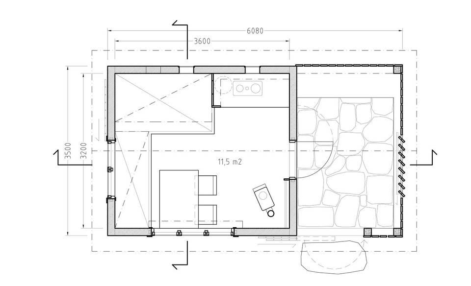 adelaparvu.com despre casa mica de vacanta, 11 mp, arhitectura Bendik Manum si arh Annelise Bjerkan, Foto Bendik Manum (1)