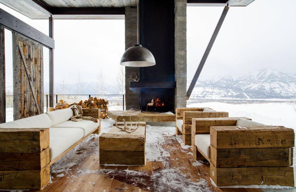 Rustic i industrial combinate ntr o cas cu arhitectur - Chalet rustique montana pearson design group ...