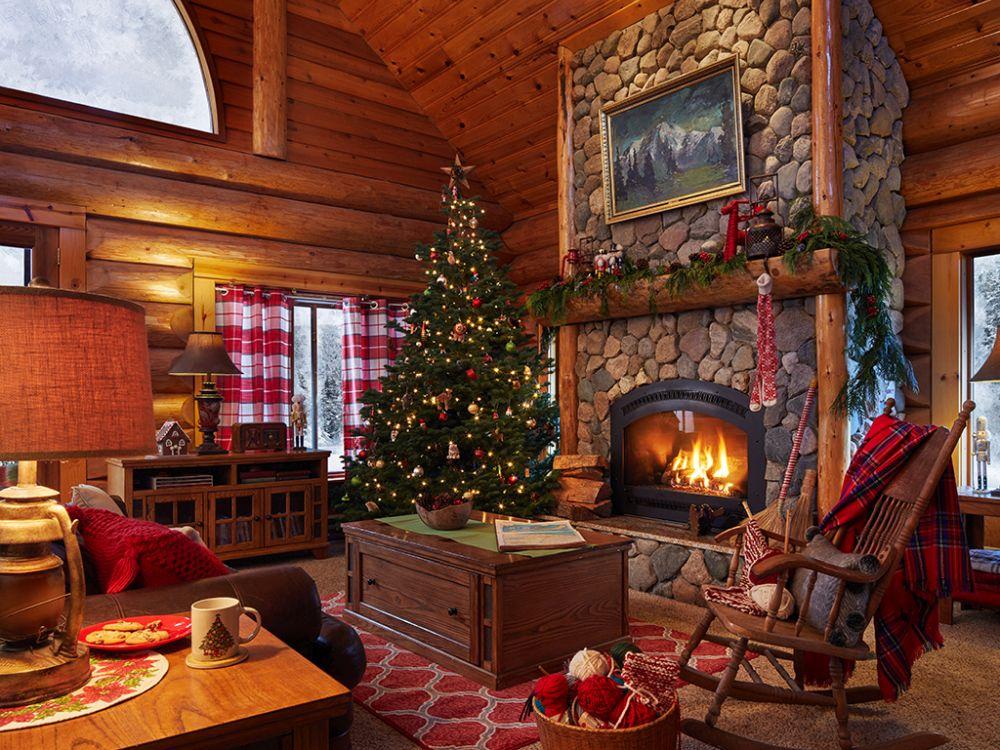 Casă amenajată ca pentru Moș Crăciun