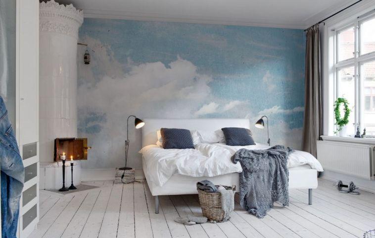 adelaparvu.com despre tapet cu nori, model Cloud Puff, design si foto RebelWalls (1)