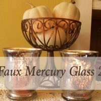 More Faux Mercury Glass and...