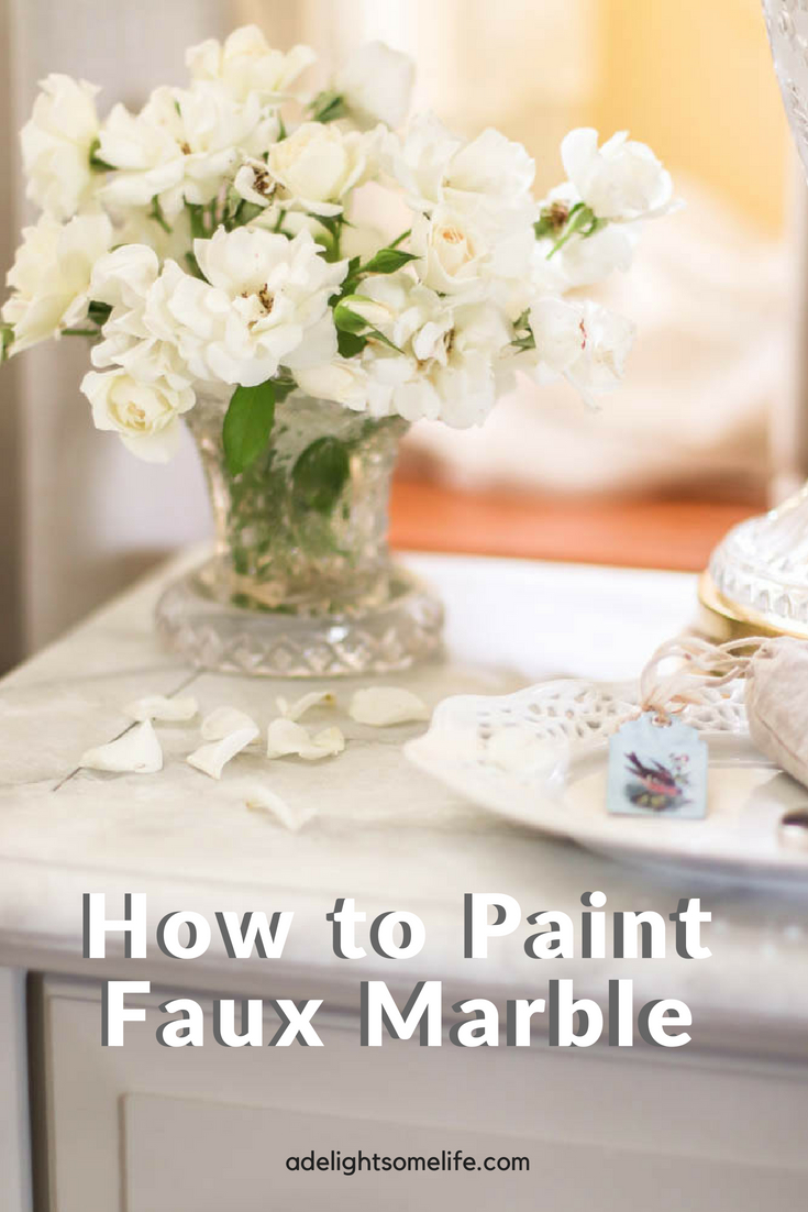 How To Easily Paint A Beautiful Faux Marble Tabletop