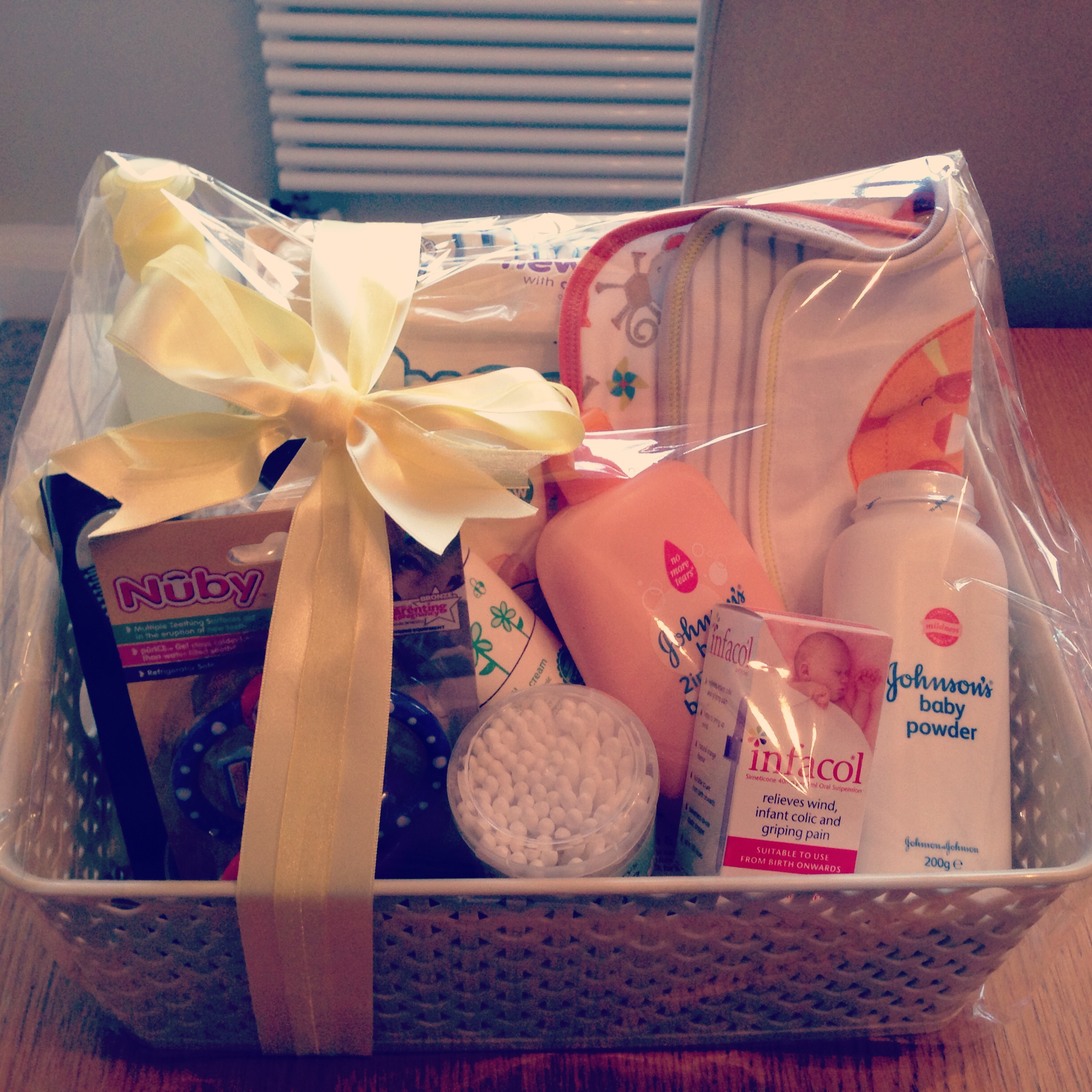 Baby Laundry Basket Gift Baby Shower Hamper A White Writes
