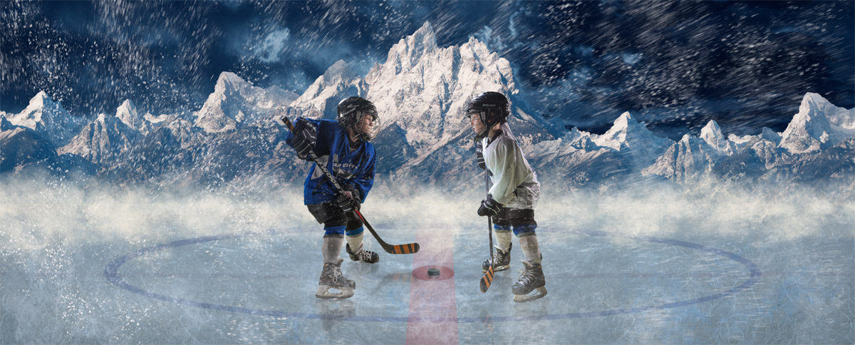 green-screen-portrait-composite-boy-hockey-player-snowy-mountain