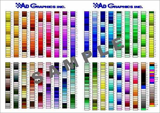 Color Chart Pompano Beach FL 4-Color Process Printing - sample pms color chart