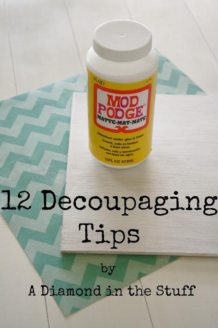 decoupaging tips