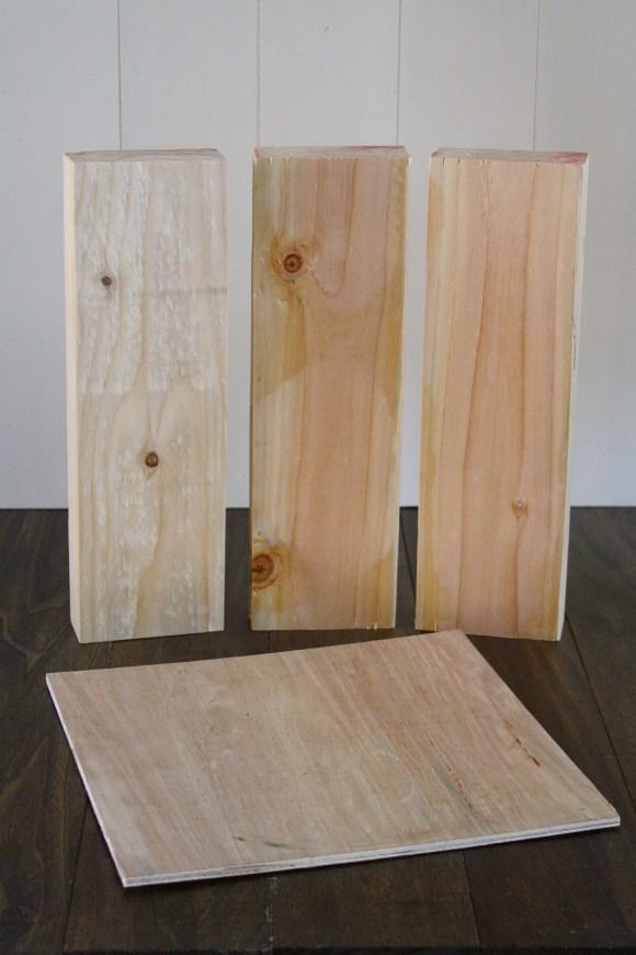 wood photo holder step 1