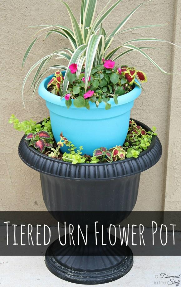 Tiered Urn Flower Pot