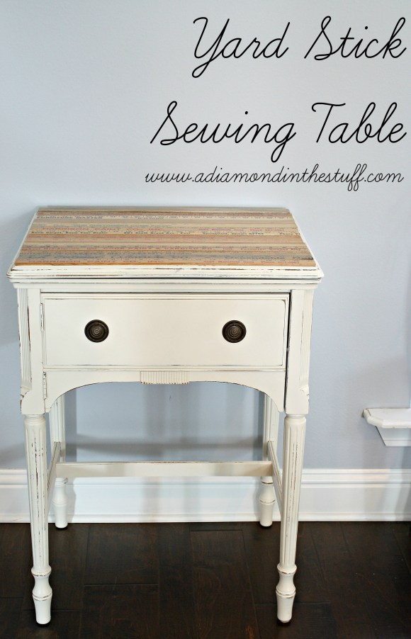 Yard Stick Sewing Table
