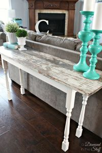 DIY Salvage Sofa Table