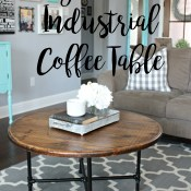 DIY Round Industrial Coffee Table | A Diamond in the Stuff