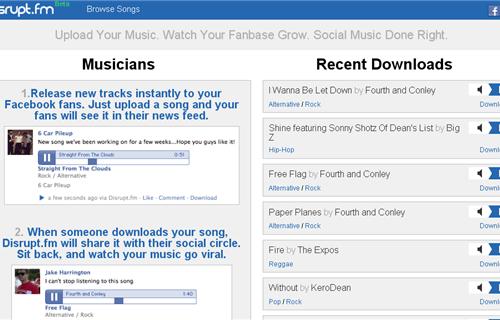 Disrupt.fm-Sube-y-comparte-gratis-tu-música-en-Facebook