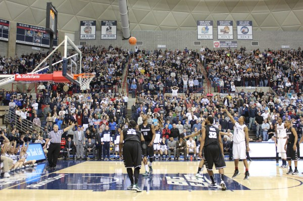 Ryan Boatright attempts a free throw