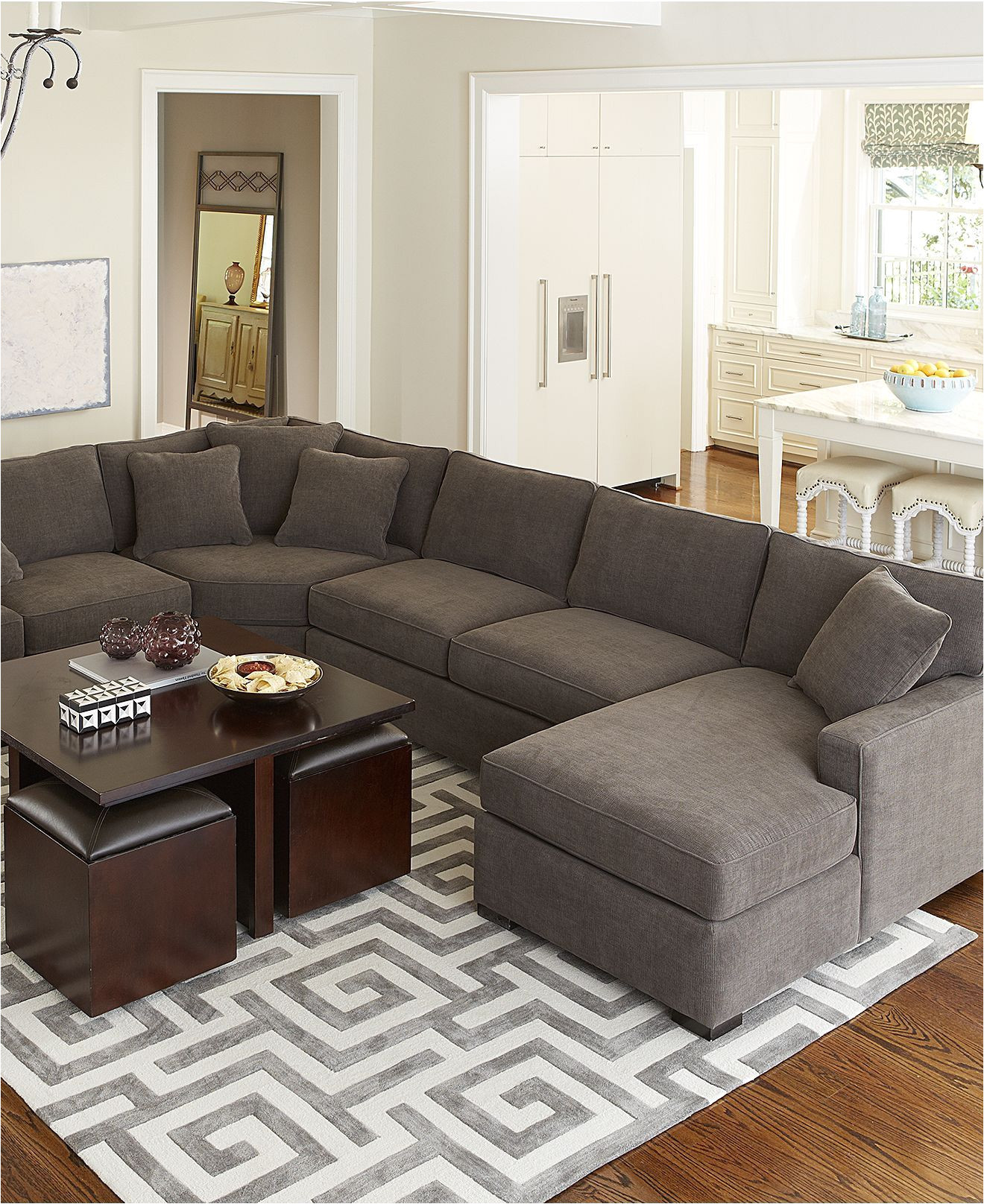 Bettsofa Florida 90 Inch Sectional Sofa Adinaporter