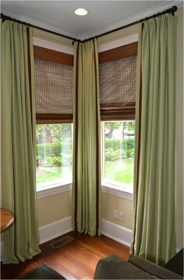 Bay Window Curtain Rod Lowes Lowe S Canada Magnetic Curtain Rod Adinaporter