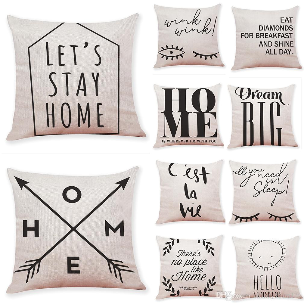 Quotes On Sofa Pillow Shams Vs Cases Quotes And Sayings Linen Cushion Covers Home