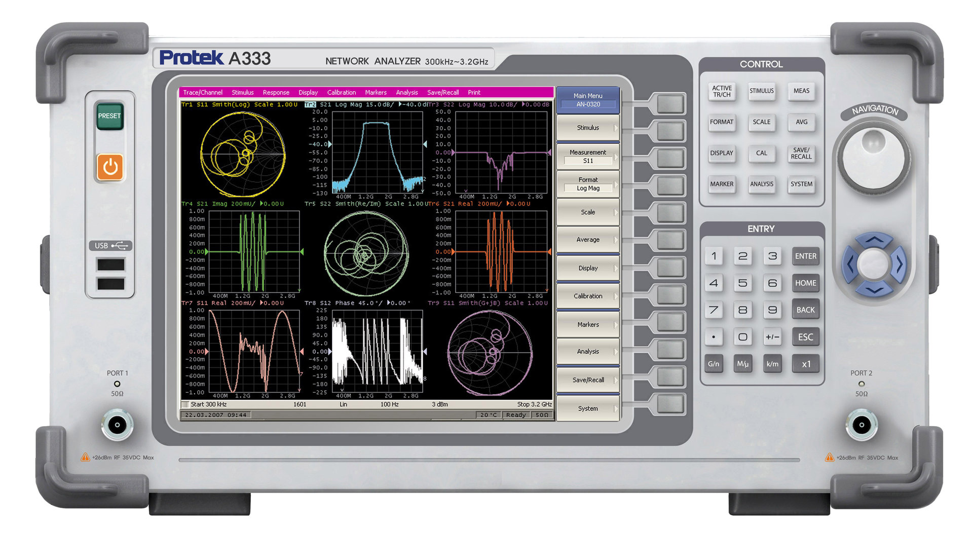 Network Analyzer Vector Network Analyzer A333 Ad Instruments