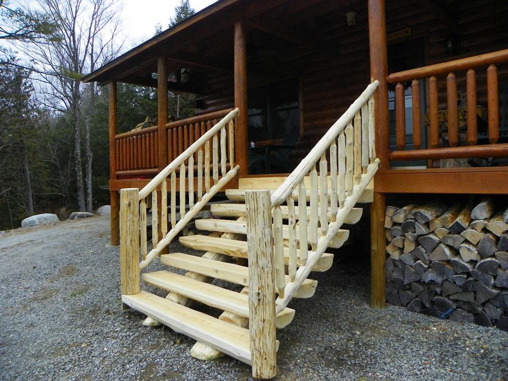 Stairs Adirondack Logworks
