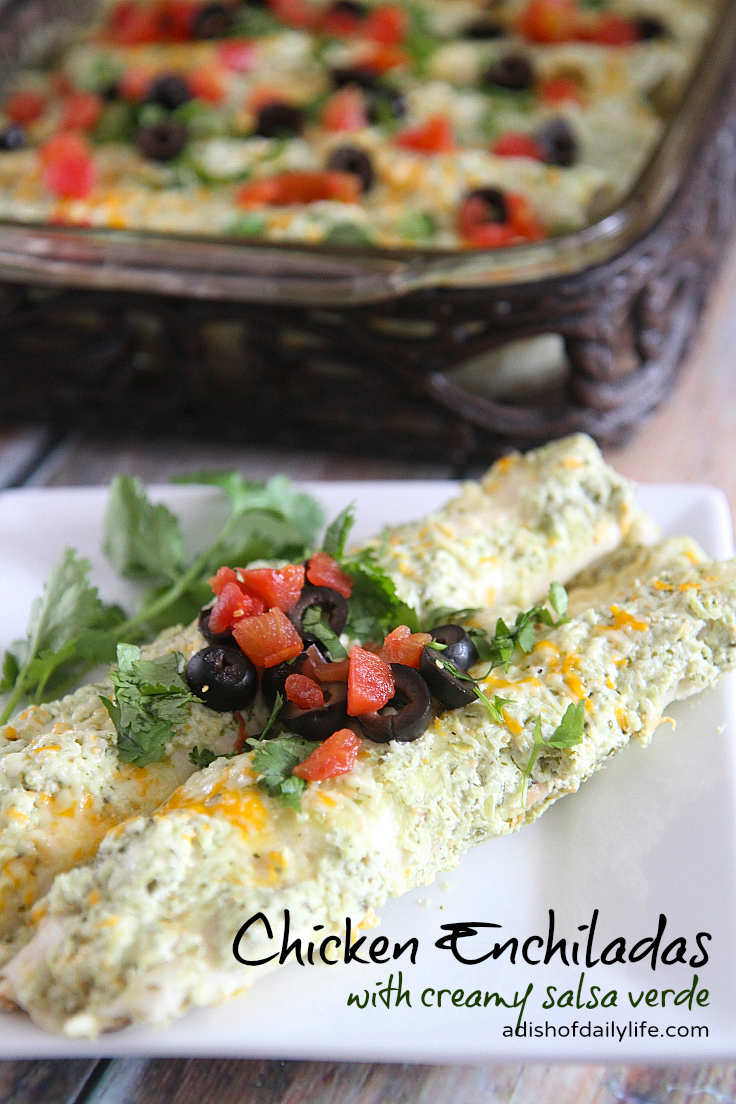 Cocina Verde Recipes Chicken Enchiladas With Creamy Salsa Verde