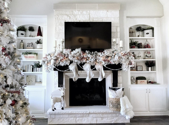 30 Great Ideas for Fireplace Christmas Decorations - christmas fireplace decor