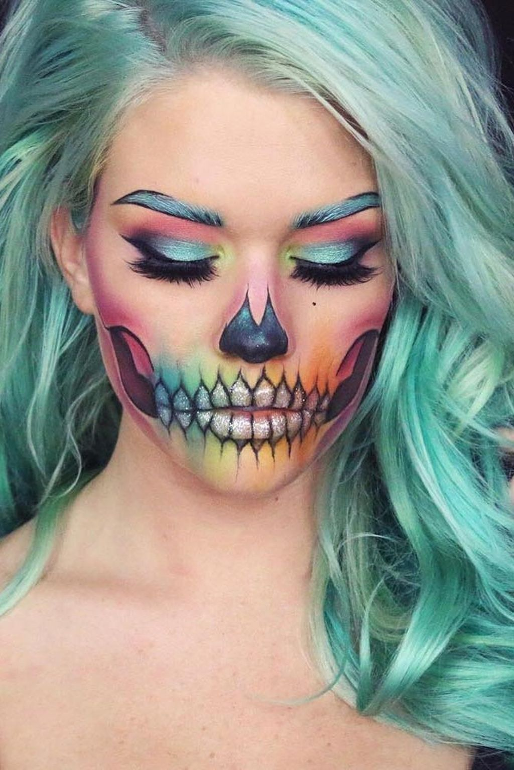 Stitch Halloween Makeup 25 Pretty Halloween Makeup Ideas To Look Scary And Cute