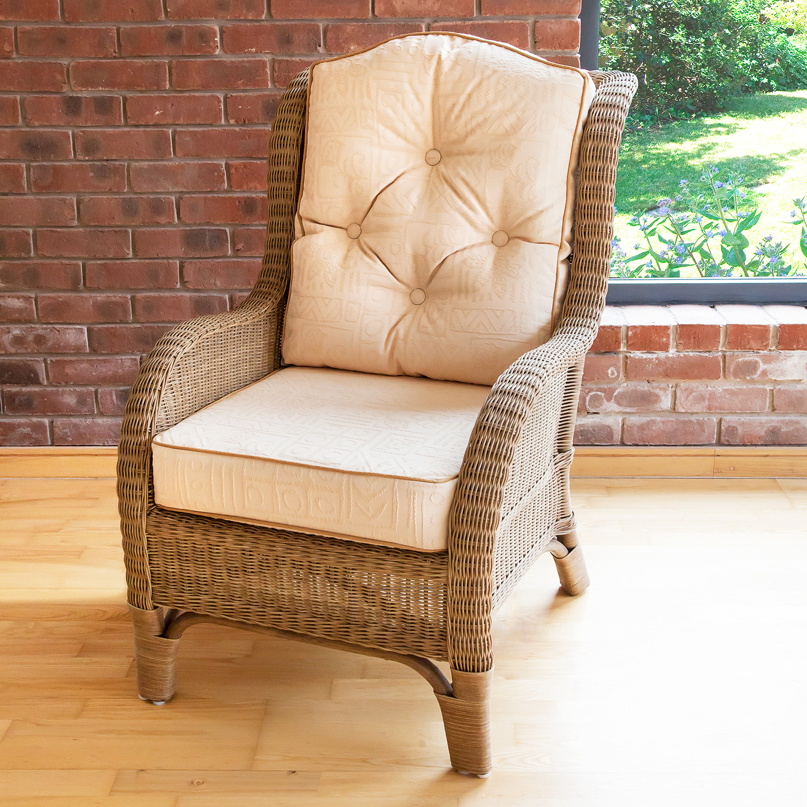 Reading Recliner Conservatory Furniture Denver Wicker Reading Bedroom Chair