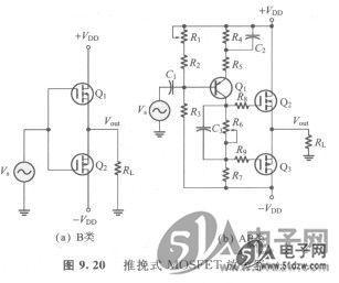 推挽式MOSFET放大器-技術資料-51電子網