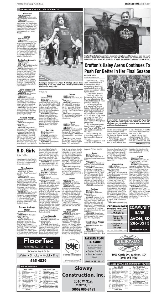 Marie Christian Heime Spring Sports Preview 2018 040618 Yktb A7 Pdf