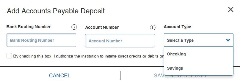 Direct Deposit - Accounts Payable