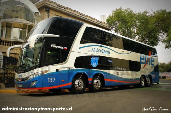 eme bus - 137 - marcopolo paradiso 1800 dd - scania - 8x2 - hrjs95 - recorridocl - providencia 225