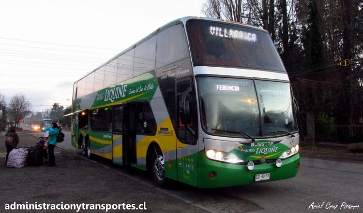 EV: Buses Liquiñe en viaje Santiago - Lican Ray, Busscar Panorâmico DD