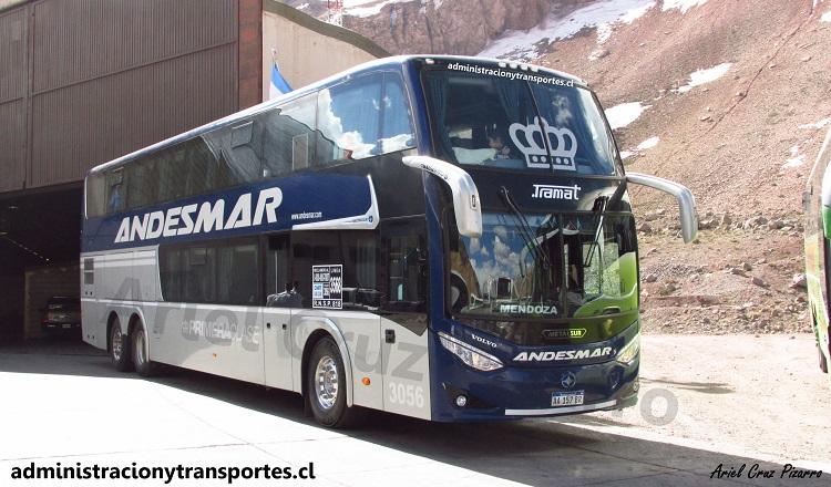 Nuevo Andesmar 3056, bus Metalsur Starbus 3 con chasis Volvo