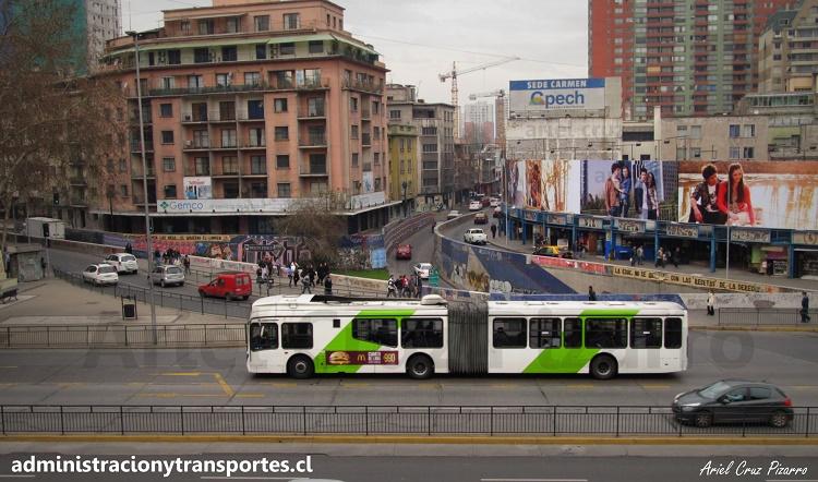 transantiago - express - gran viale b9 - santa lucía - alameda - diagonal paraguay - carmen